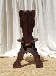 Hand carved decorative timber chair