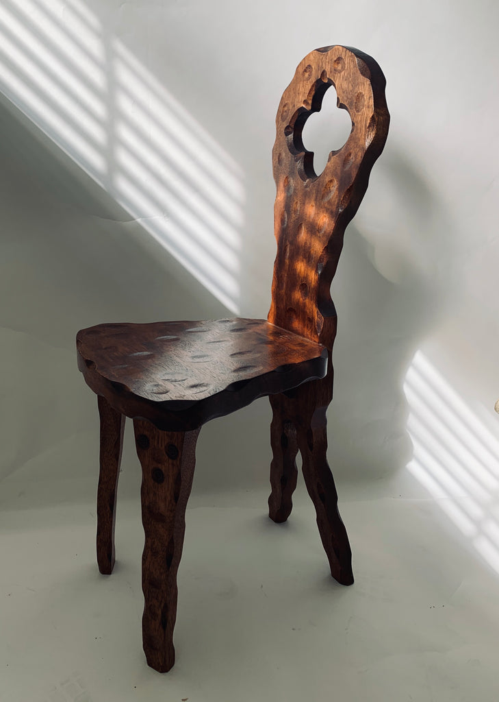 Primitive Carved Chair - Decorative