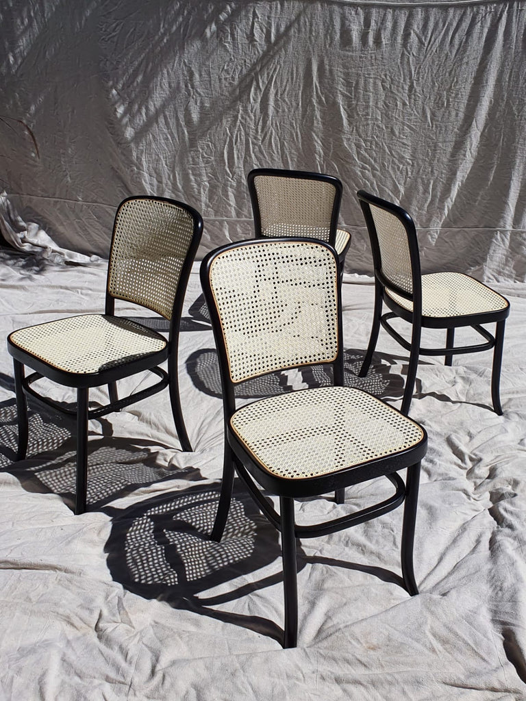 Set of Four 80 Bentwood Cane Dining Chairs