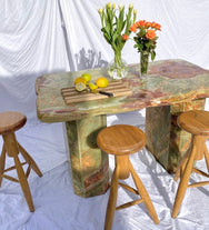 Green Onyx Tall Kitchen Island Bench / Shop Table