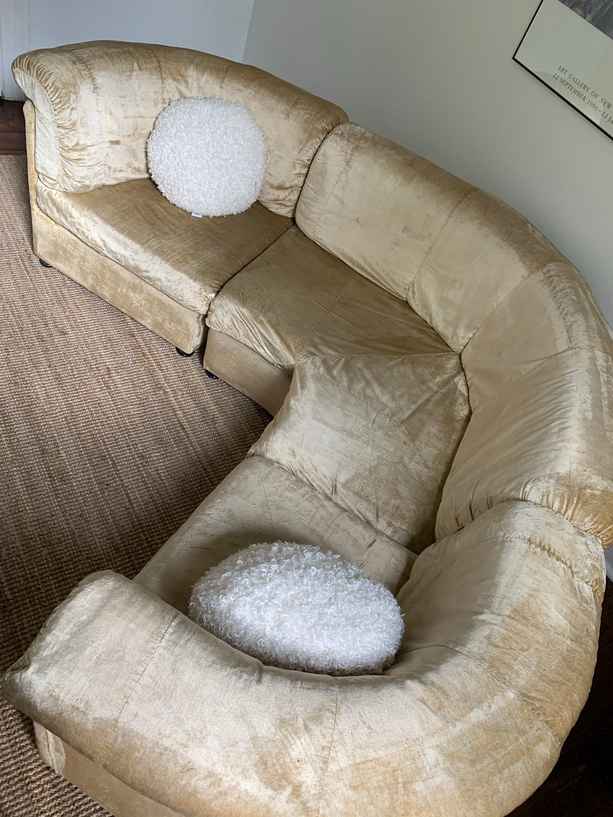 Curved Champagne Modular Lounge