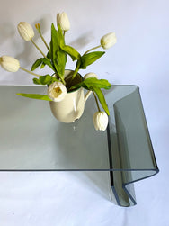 Sculptural Bent Lucite Coffee Table