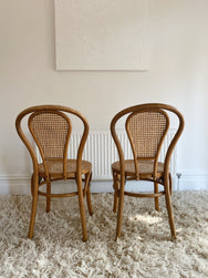 Pair of Honey Coloured Bentwood Chairs