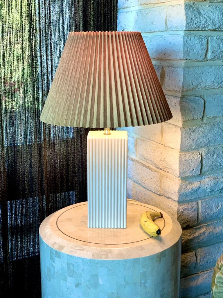 Vintage Fluted Pleated Lamp