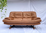 Tan Leather 2 Seater Couch