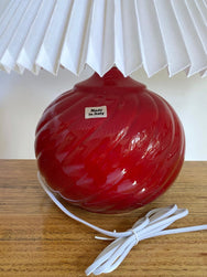 Ruby-red Italian Pleated Lamps