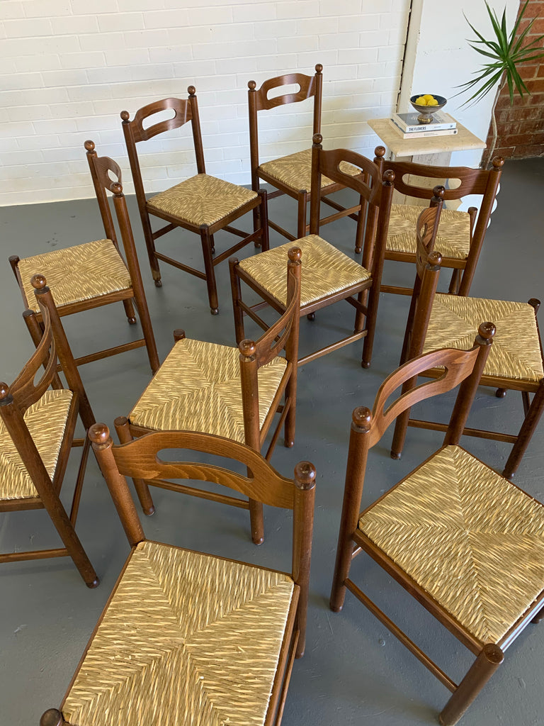 Vintage Timber Dining Chairs