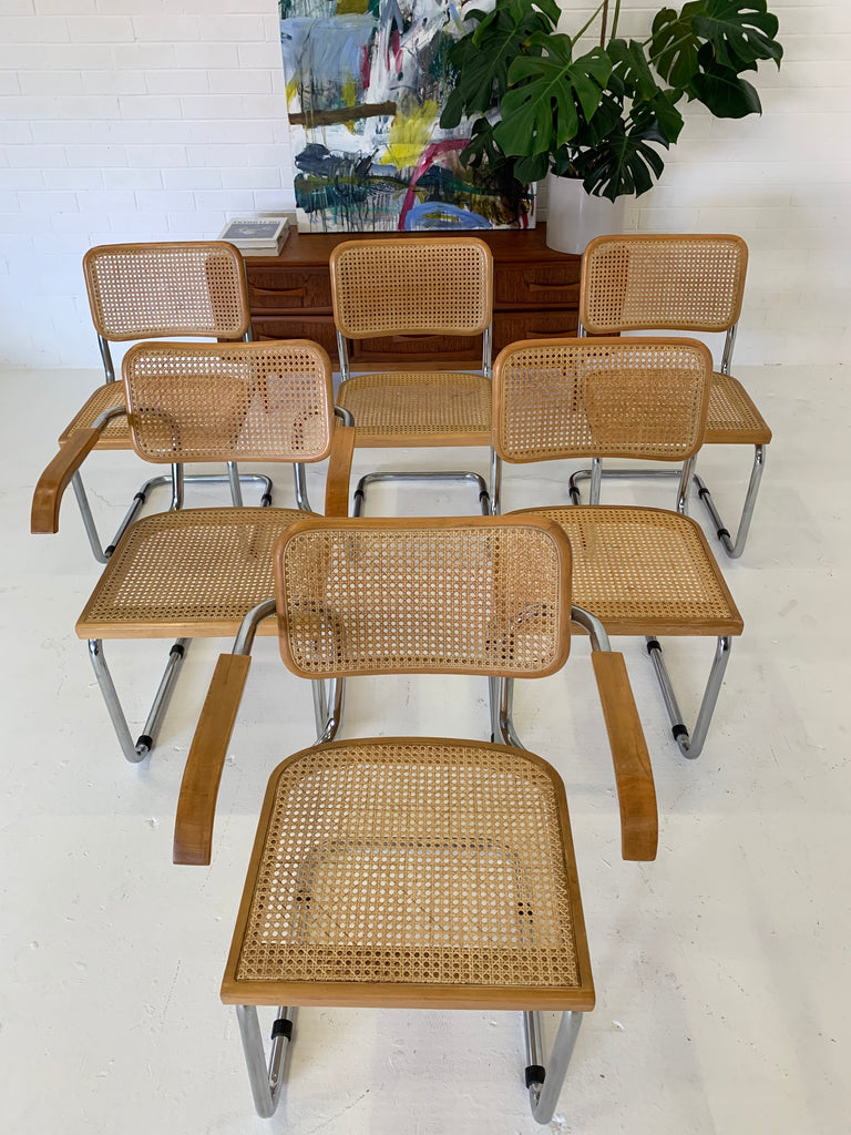 Set of Six Vintage Cesca Chairs