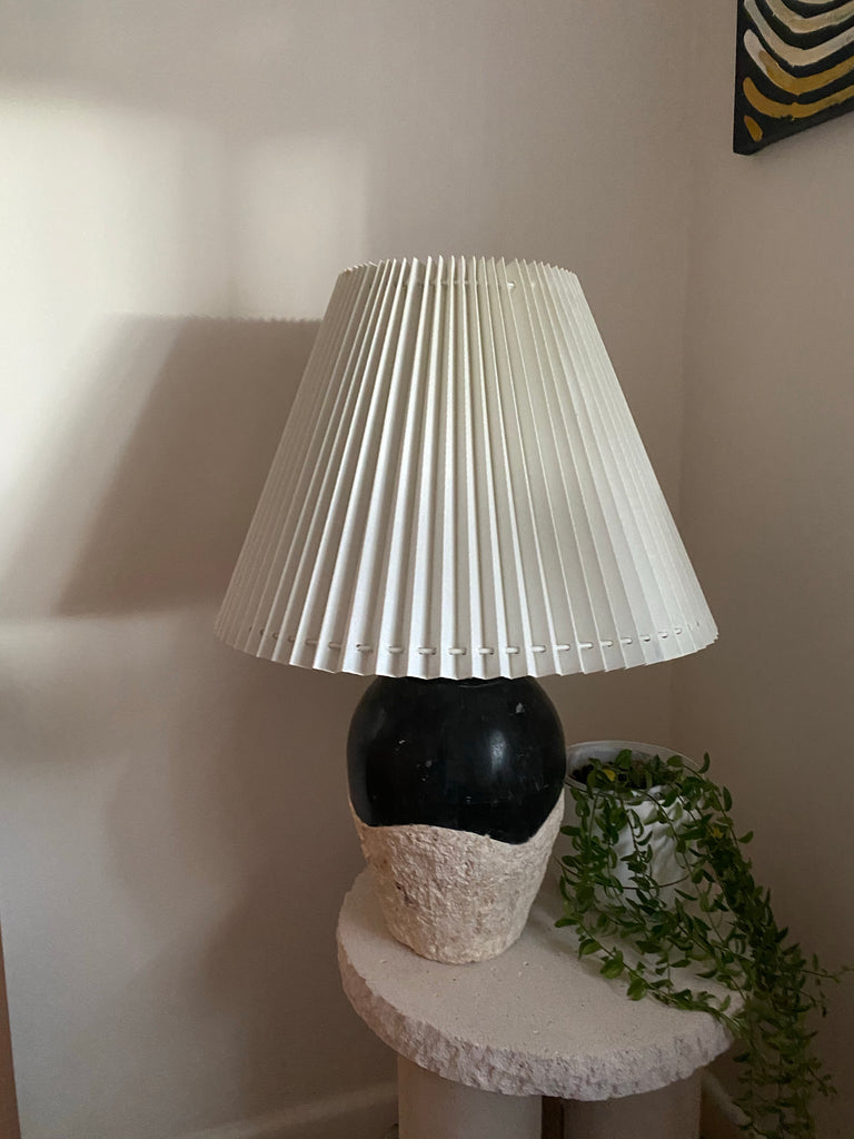 Vintage Fossil Pleat Lamp