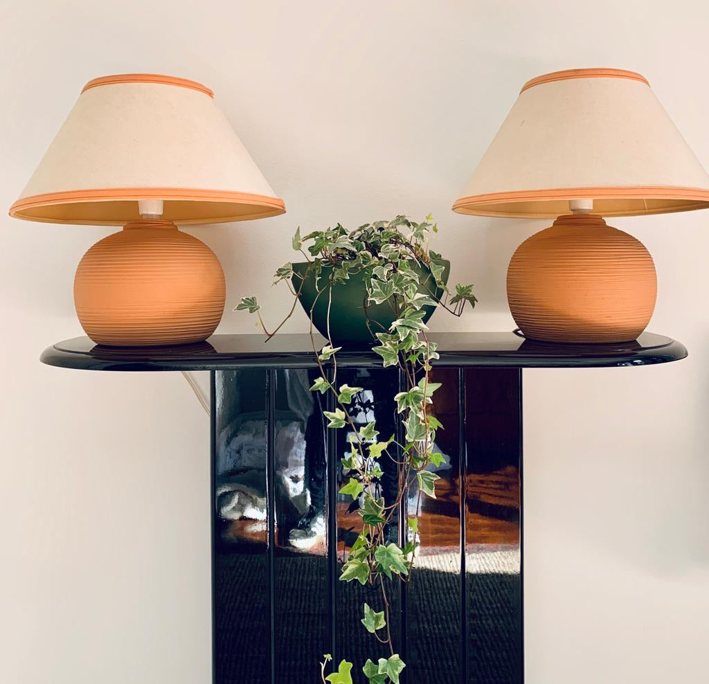 Plump Terracotta Lamps