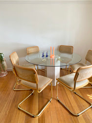 Vintage Artedi Travertine Dining Table