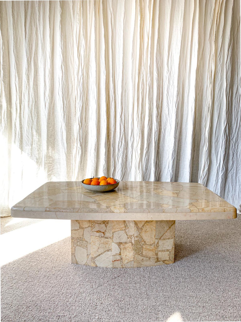Italian Marble Terrazzo Coffee table