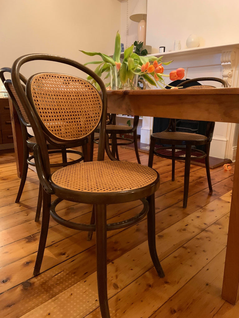Cane Bentwood Dining Chairs