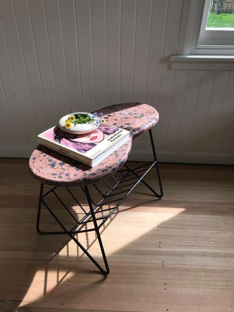 Pink Terrazzo Mid Century Coffee Table