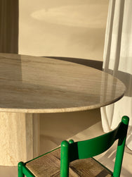 Italian Travertine Dining Table