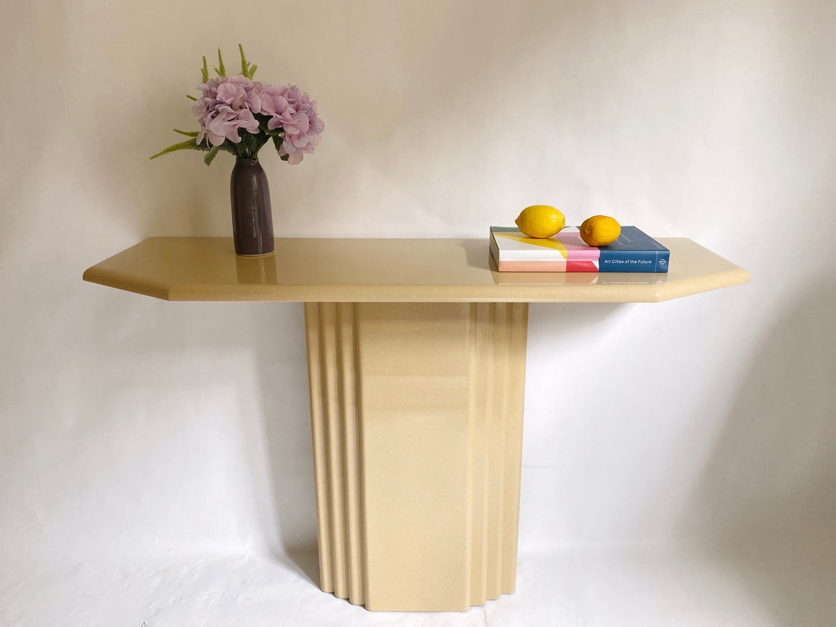 Glossy and Speckly Console Table