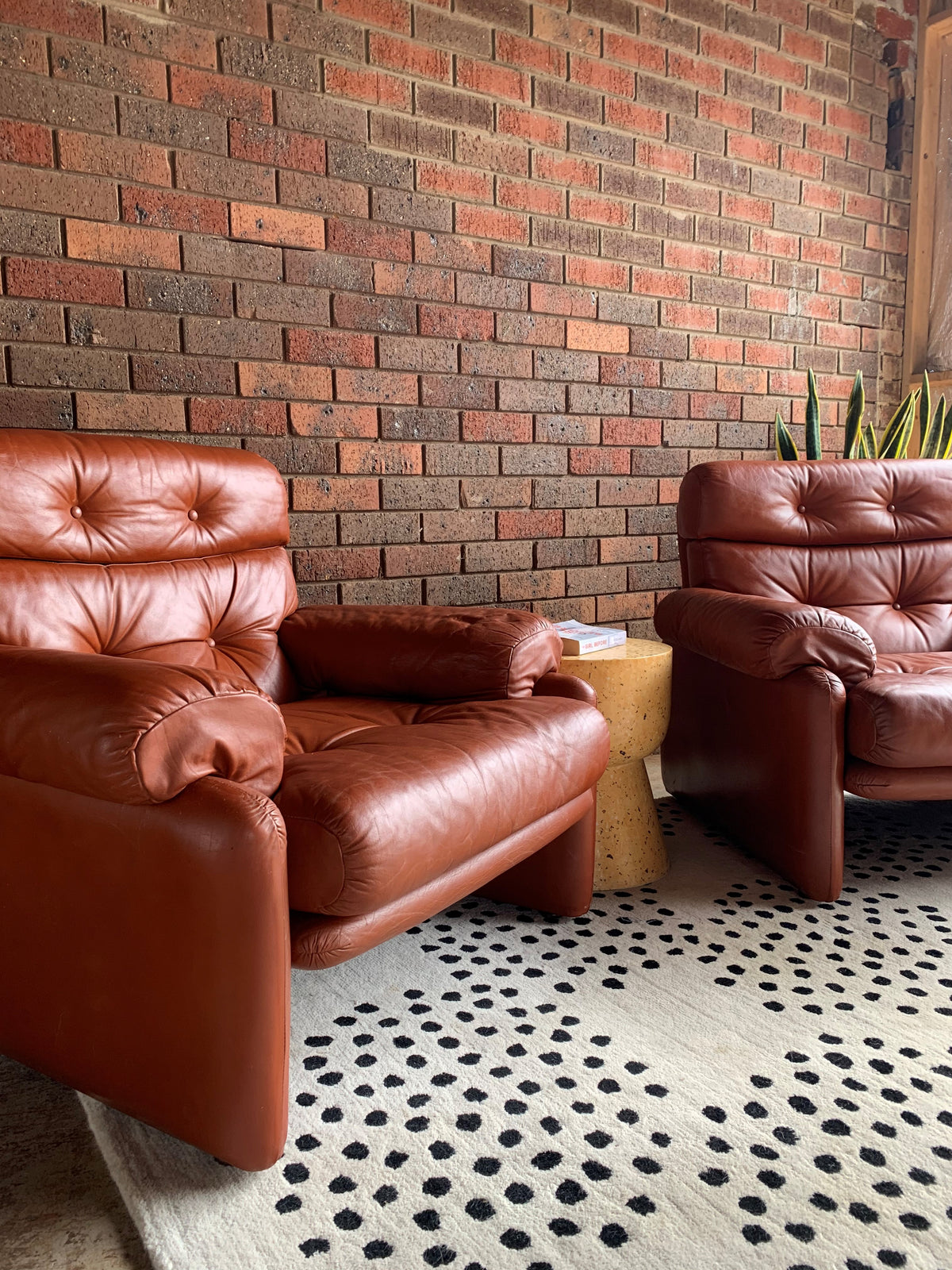 Large Vintage Leather Armchair