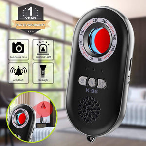 Hidden Camera Detector Infrared Portable Safesound Personal Alarm 3-in-1 Functionality
