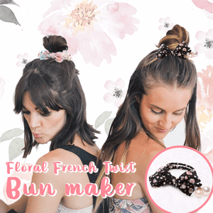 Floral French Twist Bun Maker