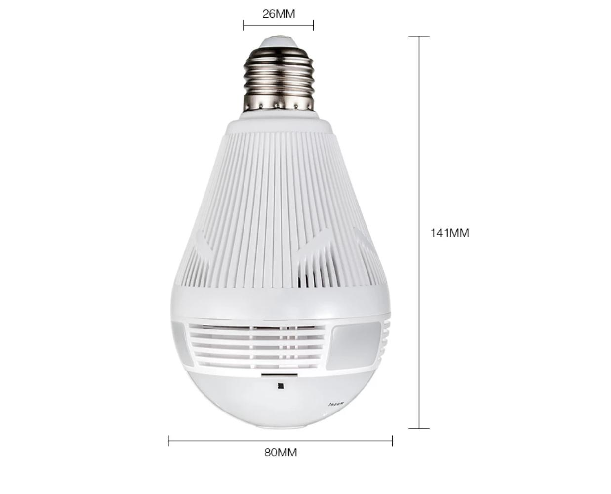 WiFi 360° Camera Light Bulb