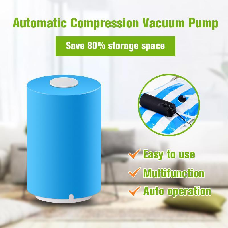 Mini Travel Vacuum Pump USB + Free 5 Small, 1 Medium and 1 Large Bags