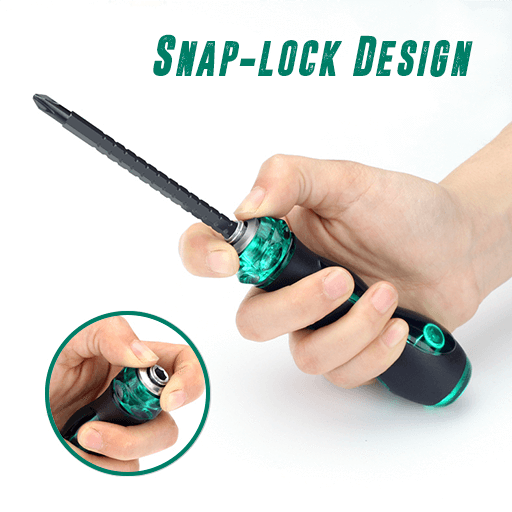 Dual-Head Retractable Screwdriver