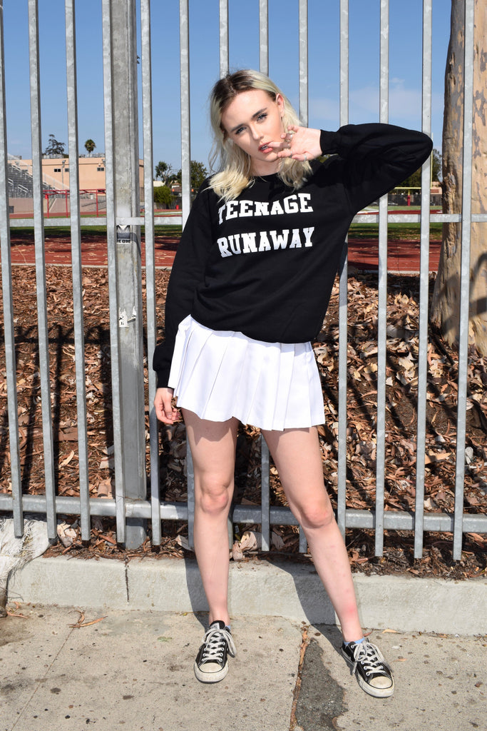 Teenage Runaway Sweatshirt in Black