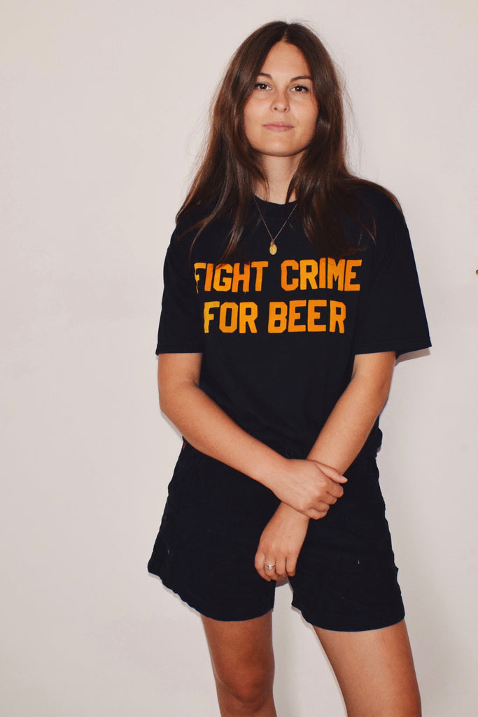 FIGHT CRIME FOR BEER tee