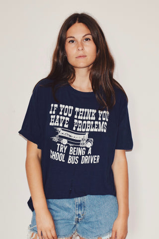Navy Blue Bus Driver Tee