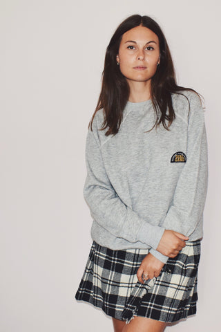 Grey vintage sweatshirt with Girl Gang patch