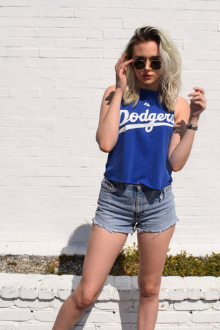 Cute Cutoff Dodgers Tee