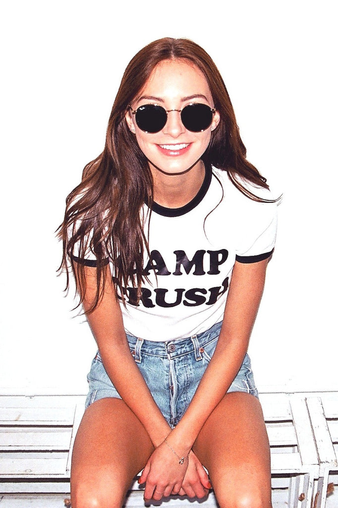 Camp Crush 70s Ringer Tee