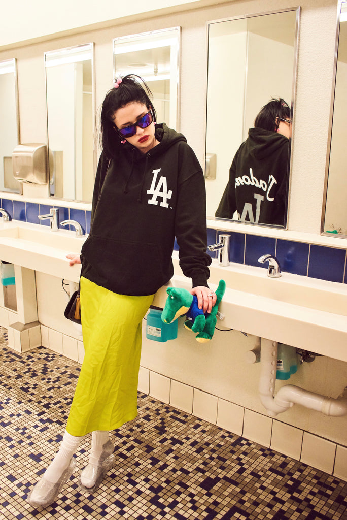 LIMITED EDITION: LOLA X DODGERS J'ADORE HOODIE IN BLACK