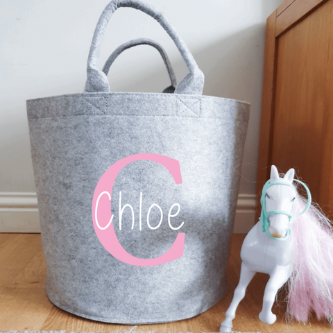 Personalised Felt Toy Storage Baskets