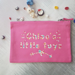 Personalised Small Toy Storage Bags, Toy Storage, Rachel J Designs