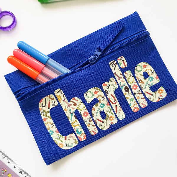 Alphabet Personalised Pencil Case Child