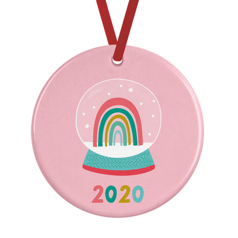 Ceramic 2020 Rainbow Christmas Decoration Rachel J Designs