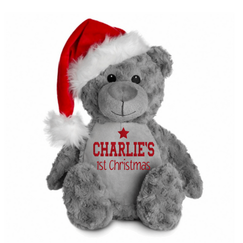 Santa Bear - Personalised Baby's First Christmas Rachel J Designs