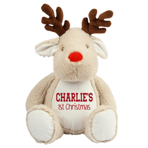 Personalised Baby's First Christmas Reindeer Teddy Rachel J Designs