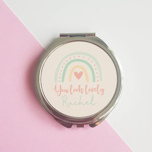 You look Lovely personalised pocket mirror