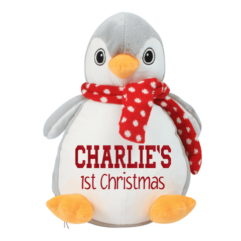 Personalised Baby's First Christmas Penguin Teddy Rachel J Designs