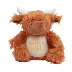 Personalised Highland Cow Teddy Rachel J Designs
