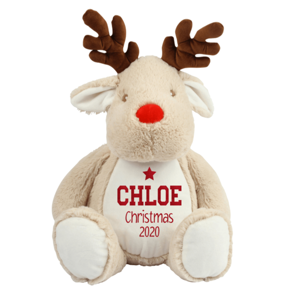 Personalised Reindeer Teddy - Christmas 2020 Rachel J Designs