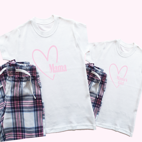 Mama and Mama's Girl Mothers Day Pyjamas Rachel J Designs