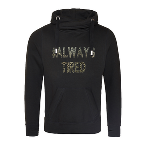 Cowl neck #Always Tired Hoodie Rachel J Designs