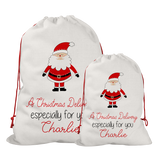 Personalised Line Santa Santa/Gift Sacks (2 Sizes Available) Rachel J Designs
