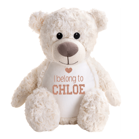 Personalised Blue Teddy Bear Rachel J Designs