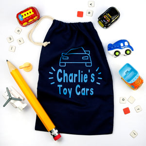 Personalised Toy Storage Bags Cars Rachel J Designs