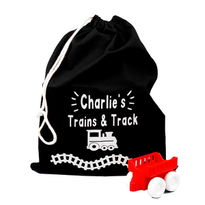 Personalised Train Track Toy Storage Bags