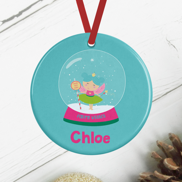 Personalised Fairy Snowglobe Christmas Decoration